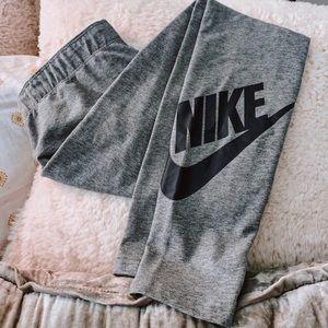 Grey Nike Logo Leggings 👟